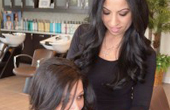 Karen Sani had always wanted hair extensions. Sani went to Janette Nammour, owner of Salon Onaj in Albany.